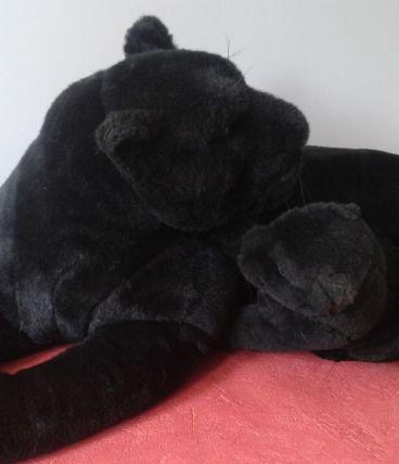 La panthère noire et son petit