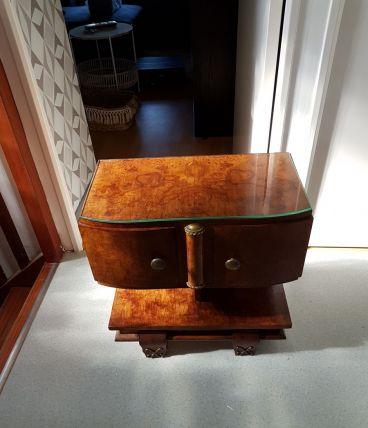 petit meuble d' appoint en bois de rose année 50