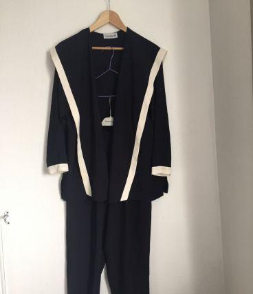 Tailleur pantalon vintage marque Corinne H Taille 44/ 46
