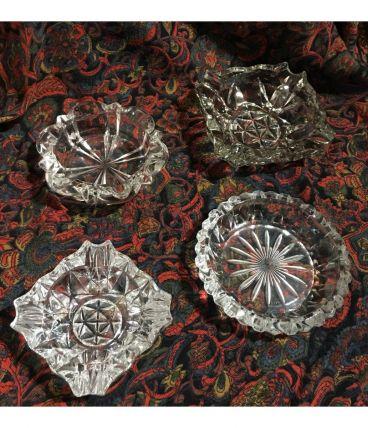 Cendriers en verre vintage