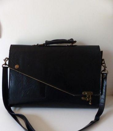 Sac porte-documents en cuir vintage