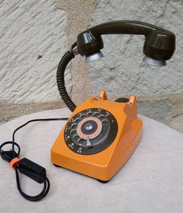 "LAMPE A POSER RECUP' VINTAGE ""TELEPHONE 6"""