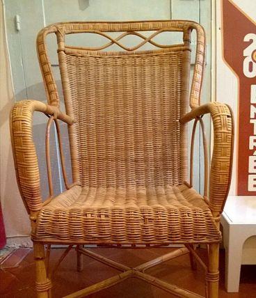 fauteuil rotin osier