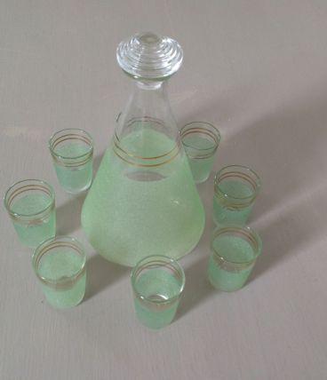Set carafe à liqueur et 8 verres