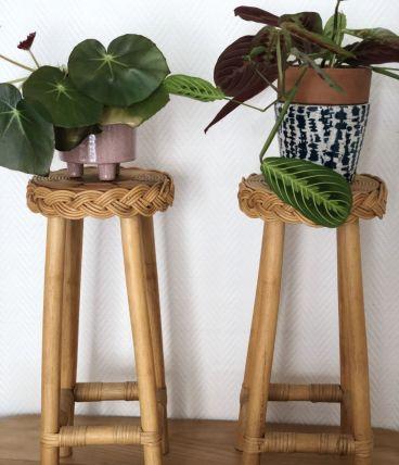 Porte plante rotin & bambou