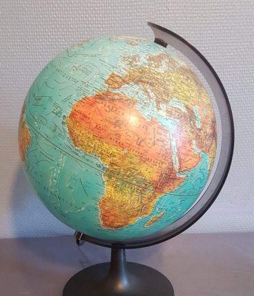 globe terrestre vintage lumineux Scan-globe 1992 (Danemark)