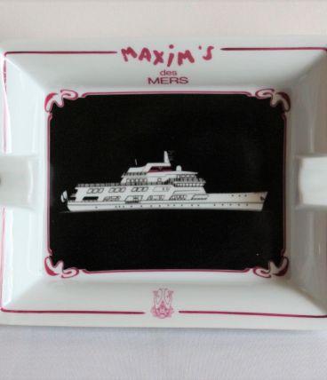 grand cendrier collection Maxim's des mers signé
