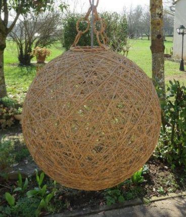 Suspension boule fil vintage