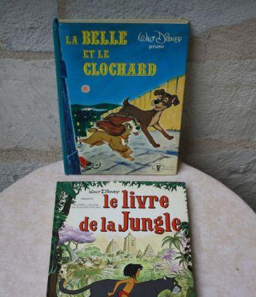 Lot de 2 livres anciens Walt Disney