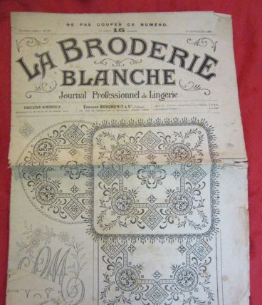 revue La Broderie Blanche patrons 1916