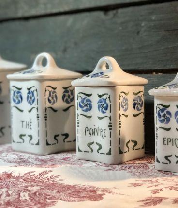 Pots à épices en faïence, année 40'