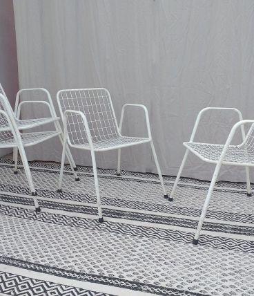 """4 chaises """"Rio"""" de chez EMU années 60 vintage"""