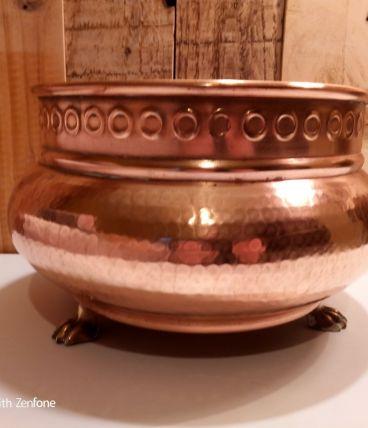 Pot en cuivre pour decoration interieur