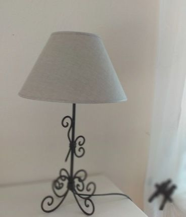 Lampe vintage campagne