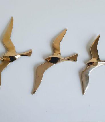 Mouettes hirondelles oiseaux en laiton