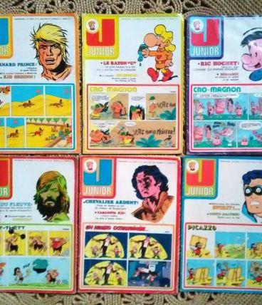 """Lot de 20 magazines de BD """"Junior"""" 1974"""
