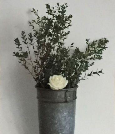 Pot en zinc de fleuriste (modèle 1)