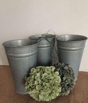 Pot en zinc de fleuriste (modèle 3)