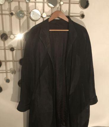 manteau daim vintage