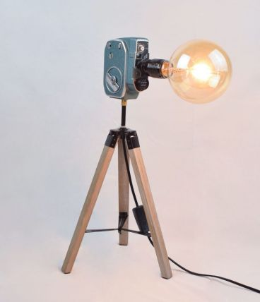 Lampe vintage Charlie Bauer - Atelier Monsieur Lumière