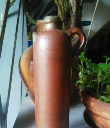 Ancienne bouteille d'alcool en terre cuite - Amsterdam