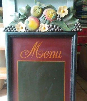 Panneau d'affichage Menu