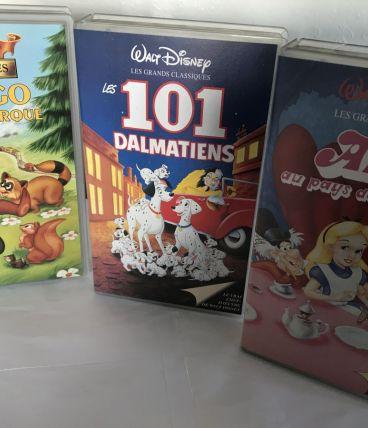 lot de 3 cassettes DVD pour enfants