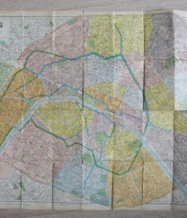 carte ancienne de Paris éditions A LECONTE