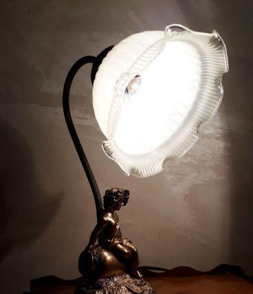 lampe angelot et tulipe art nouveau