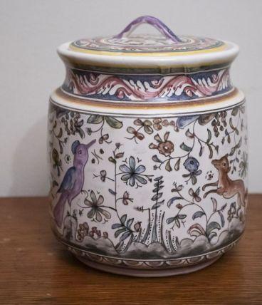 Bonbonnière vintage, peinte à la main et numérotée
