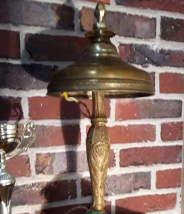 lampe art nouveau poterie  signee