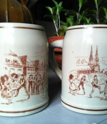 4 chopes de bière d'Obernai (Alsace)