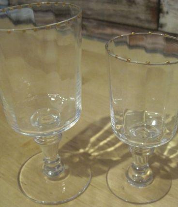 2 verres anciens en cristal