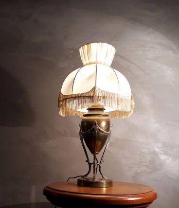 lampe napoleon  laiton pied en sabot   1900