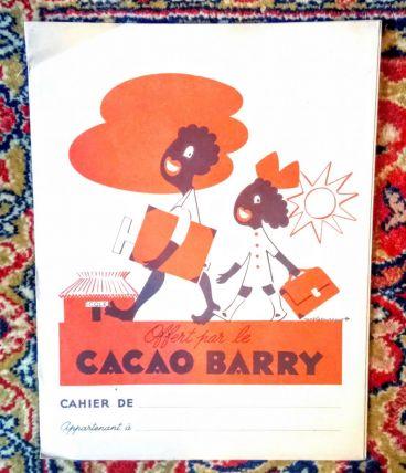 "Ancien protège cahier publicitaire ""cacao Barry"""