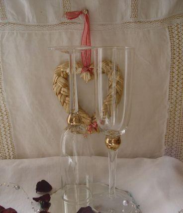 Deux flutes à champagne SAINT VALENTIN
