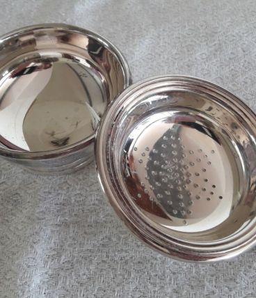 Passoire Christofle métal argenté