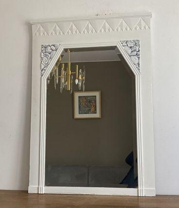 Grand miroir Art Déco avec glace biseauté. 112x80.
