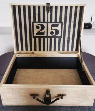Grande valise en bois années 40-50
