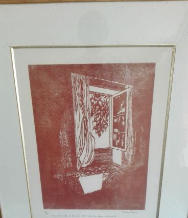"""Lithographie de B. Flaud """"La Naissance du jour"""""""