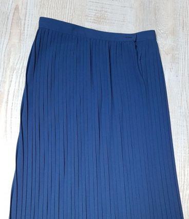 jupe plissée bleu Electrique