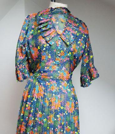 robe vintage fait main pièce unique
