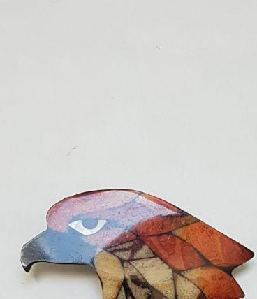 broche vintage  tête aigle