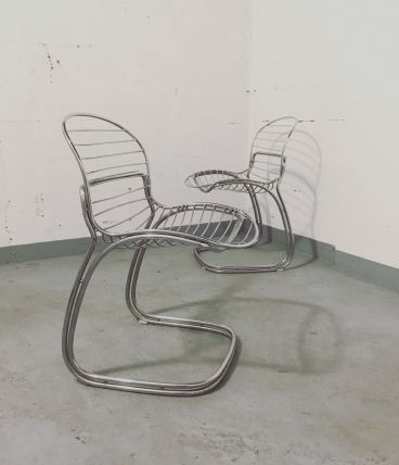 "GASTONE RINALDI pour RIMA Paire de chaises ""Sabrina""."