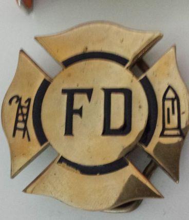 """Boucle de ceinture vintage FD (pompiers) USA années 70"""" uniq"""