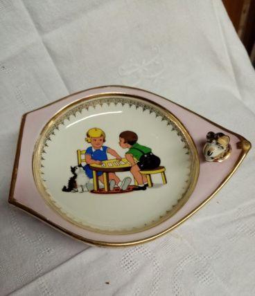 Assiette bébé en porcelaine de limoges