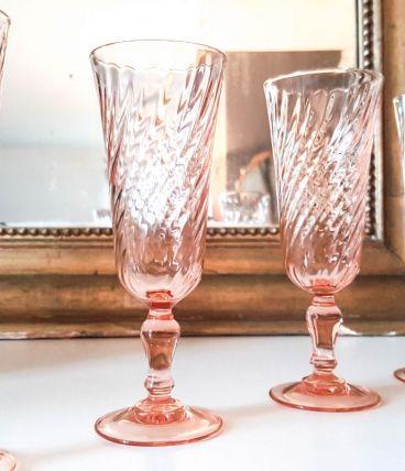 Lot de 6 Flûtes à Champagne rose ROSALINE Arcoroc LUMINARC V