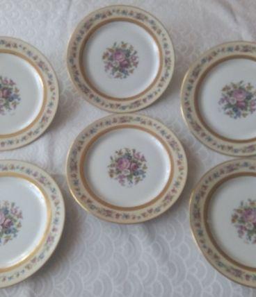 6 assiettes à dessert Porcelaine de LIMOGES NARDON LAFARGE
