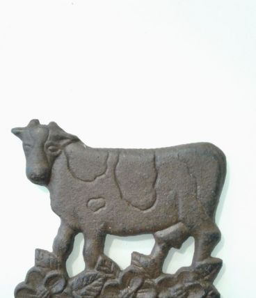 Baromètre vache metal.