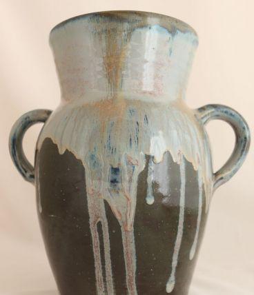 Vase pot en grès émaillé, vintage
